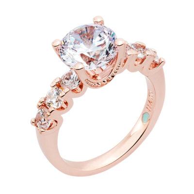MEGHAN SPARKLE Ring, rosè vergoldet, Zirkonia