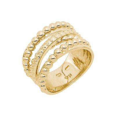 SFERA Ring, vergoldet