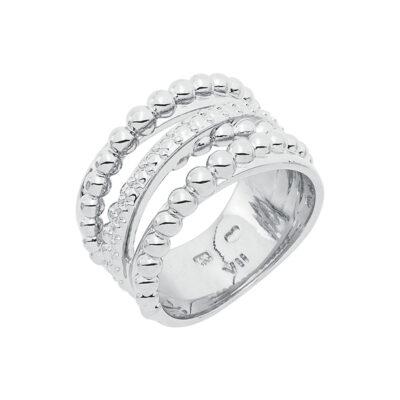 SFERA Ring, rhodiniert