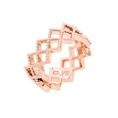 TOUJOURS Ring, rosè vergoldet
