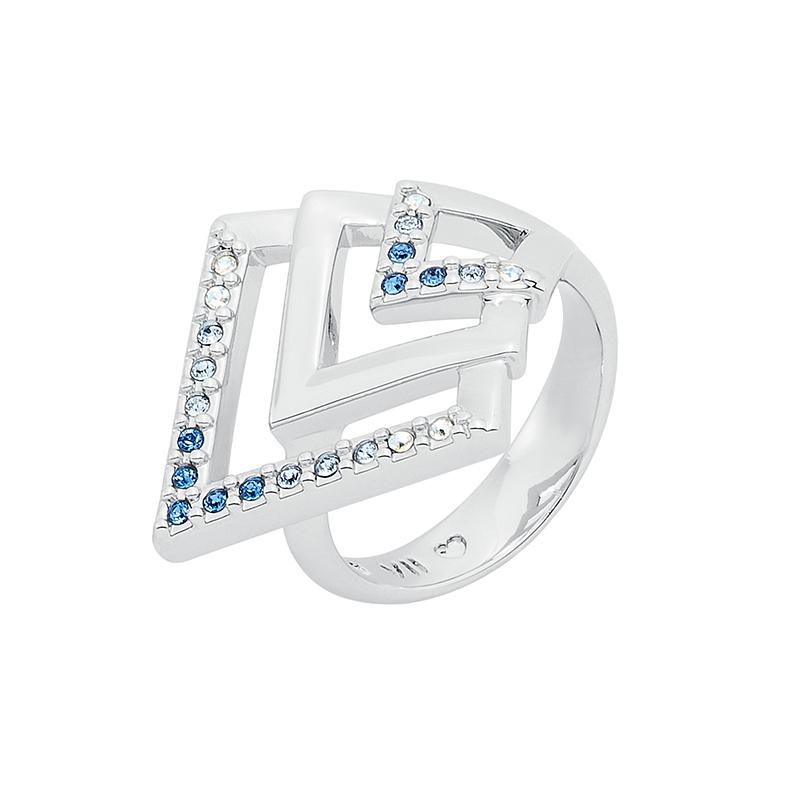 VIENNA Ring, rhodiniert, multi-blau
