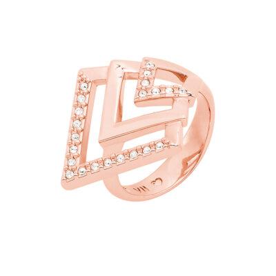 VIENNA Ring, rosè vergoldet, kristall-farbig