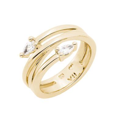HONEY CANDY Ring, vergoldet, Zirkonia