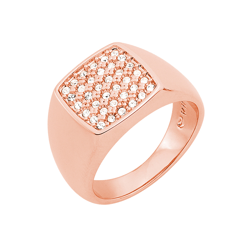 SUGAR DANDY Ring, rosè vergoldet, kristall-farbig