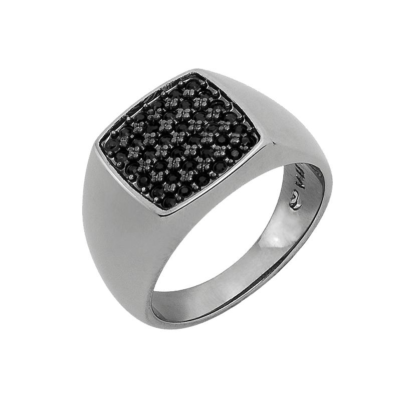 SUGAR DANDY Ring, rutheniert, schwarz