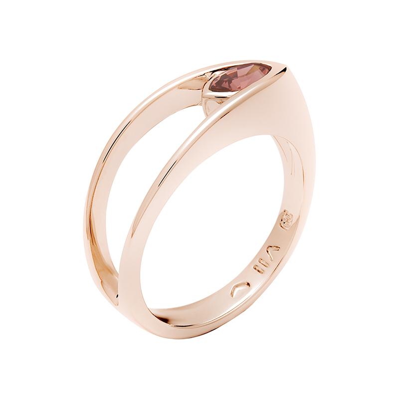 BALLERINA Ring, rosè vergoldet, dunkel rosé