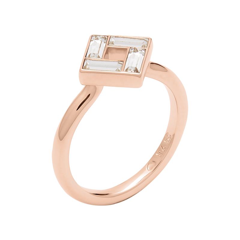 MOSAIC Ring, rosè vergoldet, kristall-farbig