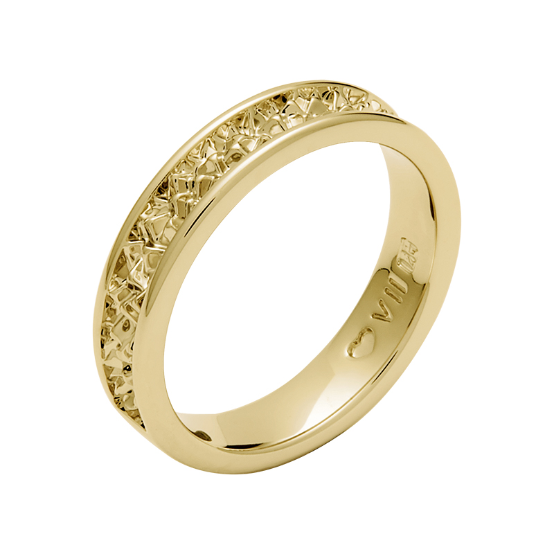 BELLE EPOQUE Ring, vergoldet
