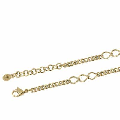 CHA-CHA-CHA Halskette, vergoldet,