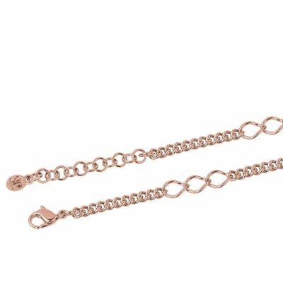 CHA-CHA-CHA Halskette, rosè vergoldet,