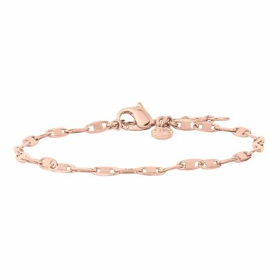 SHINY Armkette, rosè vergoldet,