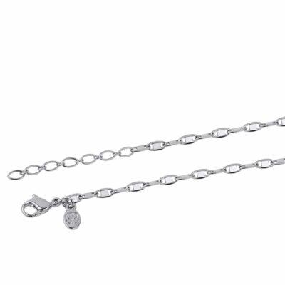 SHINY Halskette, rhodiniert,