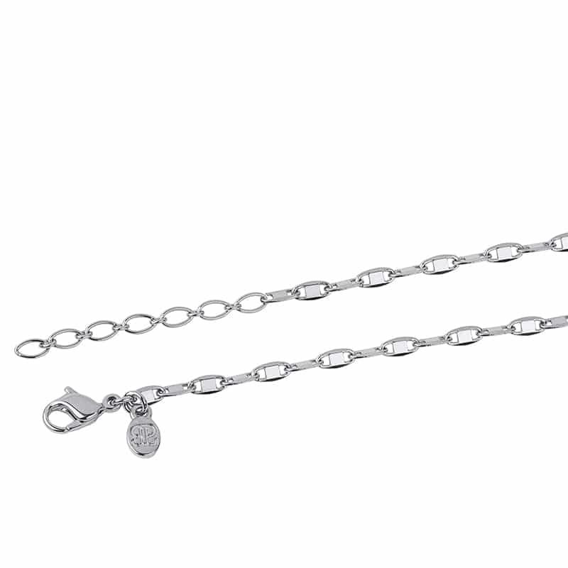 SHINY Halskette, rhodiniert