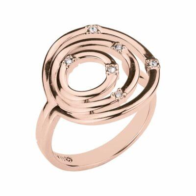 SOLARIS Ring, rosè vergoldet, kristall-farbig