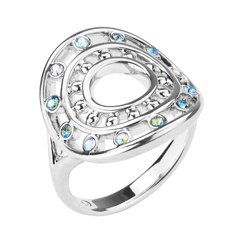 HELIOS Ring, rhodiniert, multicolor