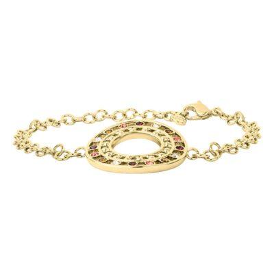 HELIOS Armband, vergoldet, multicolor