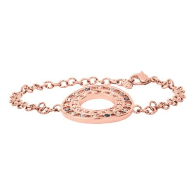 HELIOS Armband, rosè vergoldet, multicolor