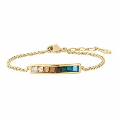 BREEZE Armband, vergoldet, multicolor