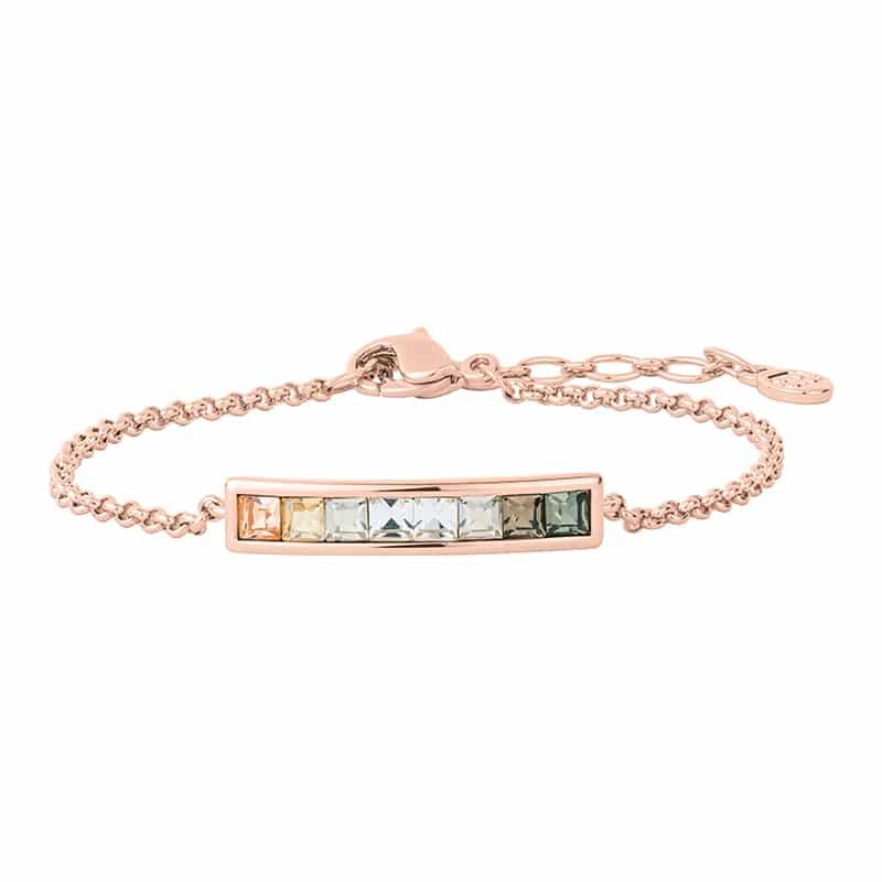 BREEZE Armband, rosè vergoldet, multicolor