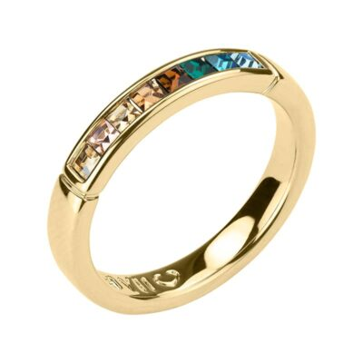 BREEZE Ring, vergoldet, multicolor