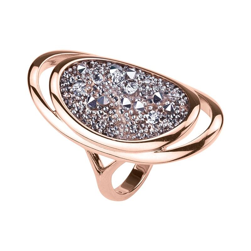 CHARMING HERITAGE Ring, rosè vergoldet, metallic silber