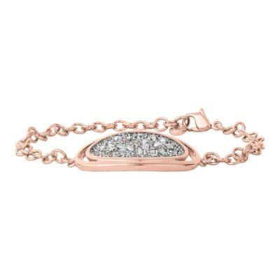 CHARMING HERITAGE Armband, rosè vergoldet, metallic silber