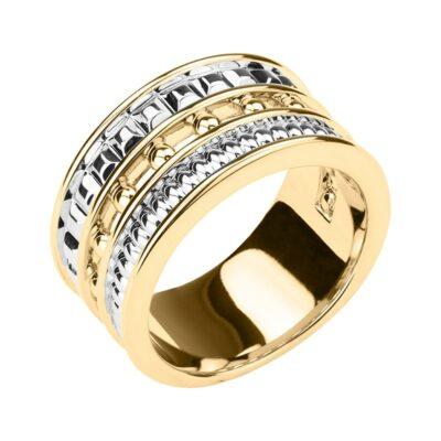 BABYLON Ring, vergoldet,