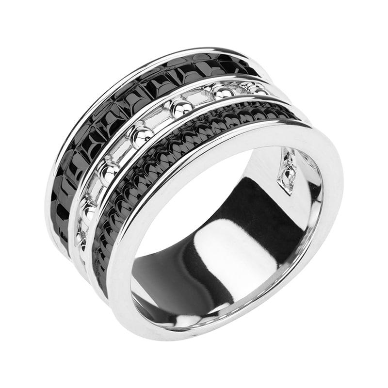BABYLON Ring, rhodiniert,