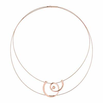 MOMENTUM Collier, rosè vergoldet,