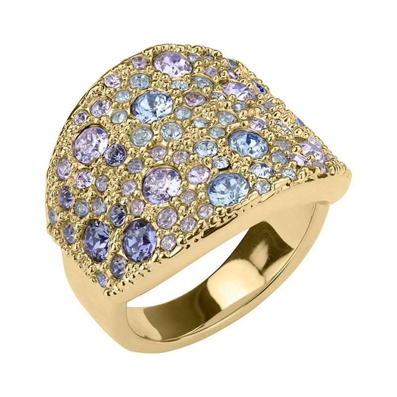 HARMONY Ring, vergoldet, multicolor