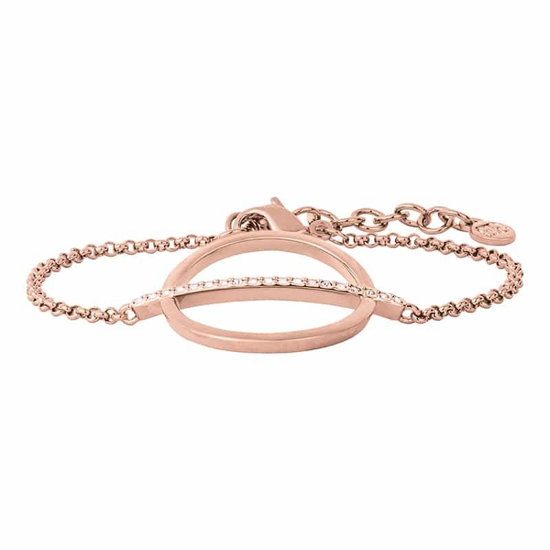 PAGAN DELUXE Armband, rosè vergoldet, kristall-farbig