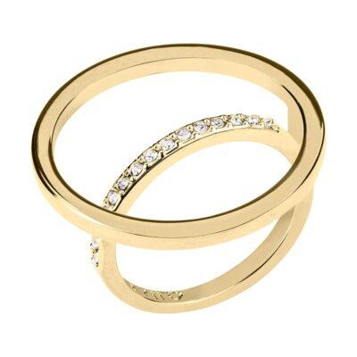 PAGAN DELUXE Ring, vergoldet, kristall-farbig