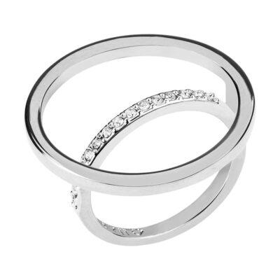 PAGAN DELUXE Ring, rhodiniert, kristall-farbig