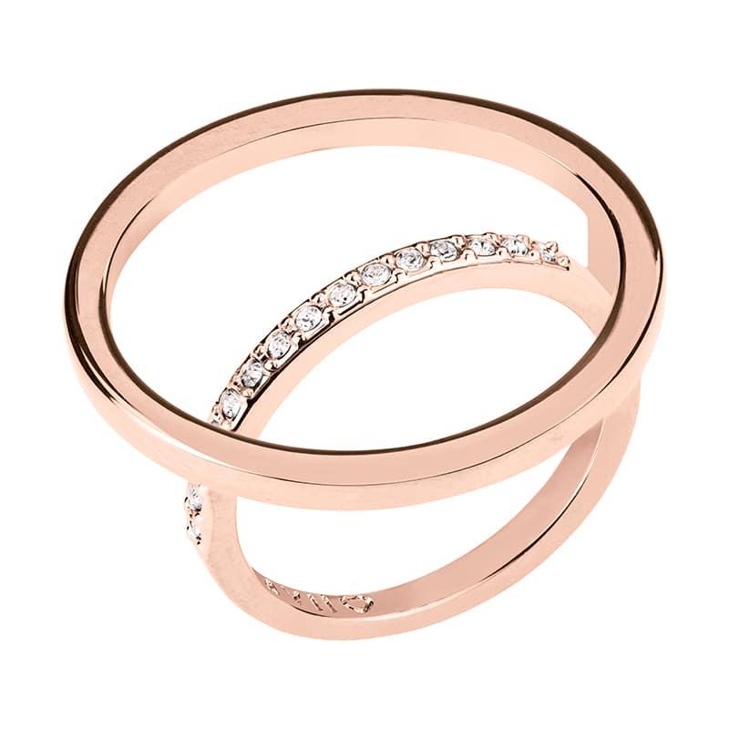 PAGAN DELUXE Ring, rosè vergoldet, kristall-farbig