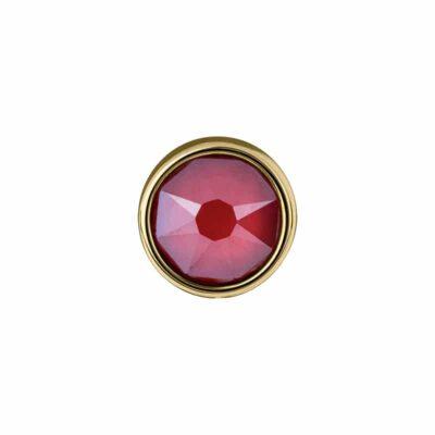 PRALINÉ Motiv, vergoldet, rot