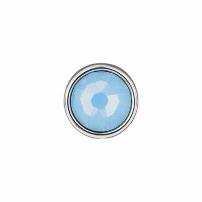 PRALINÉ Motiv, rhodiniert, hell blau farbig