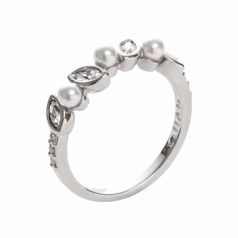 PRIME OF LOVE Ring, rhodiniert, weiß, kristall-farbig