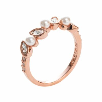 PRIME OF LOVE Ring, Neu, rosè vergoldet, weiß, kristall-farbig