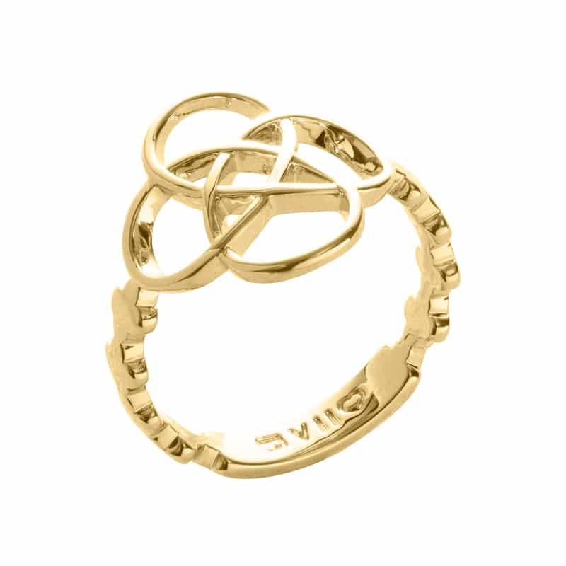 BLOSSOM OF LIFE Ring, vergoldet
