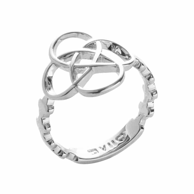 BLOSSOM OF LIFE Ring, rhodiniert
