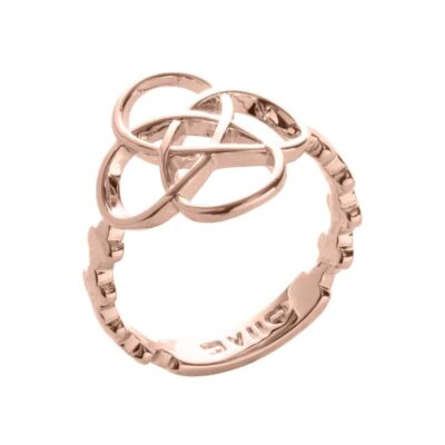 BLOSSOM OF LIFE Ring, rosè vergoldet