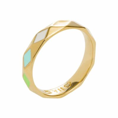 DELIGHT Ring, vergoldet, multicolor
