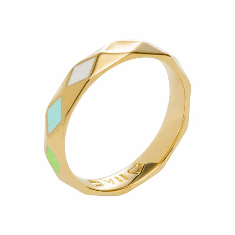 DELIGHT Ring, vergoldet, multicolor
