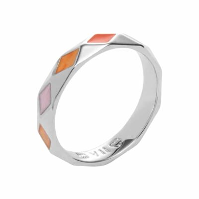 DELIGHT Ring, rhodiniert, multicolor