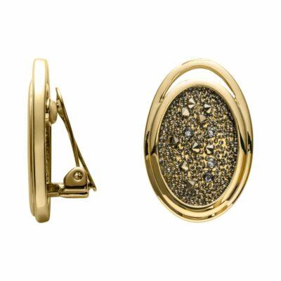 CHARMING HERITAGE Ohrclips, vergoldet, metallic light gold