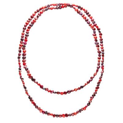 OCEANIA Perlenkette, multi-rot
