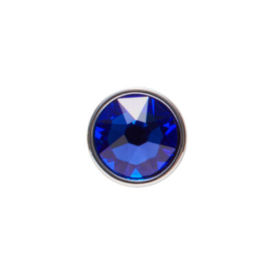 PRALINÉ Motiv, rhodiniert, blau