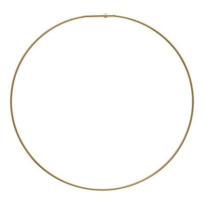 DELPHI Halsreifen, vergoldet, gold farbig