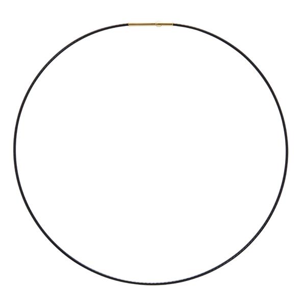 DELPHI Halsreifen, vergoldet, schwarz