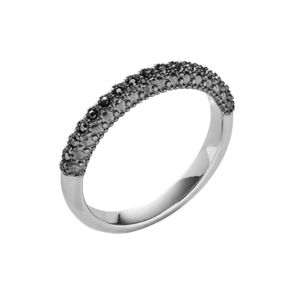 SPLENDOR Ring, rhodiniert, metallic grau